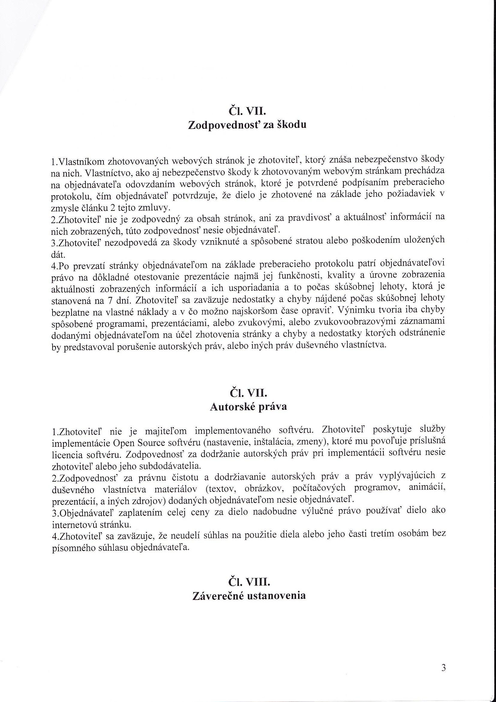 Zmluva o službe dotvorby služieb